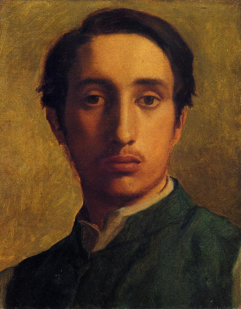 1856 Degas in a Green Jacket