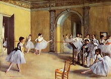 1872 Dance Class at the Opera