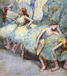 1900 Ballet Dancers in the Wings 71x66cm