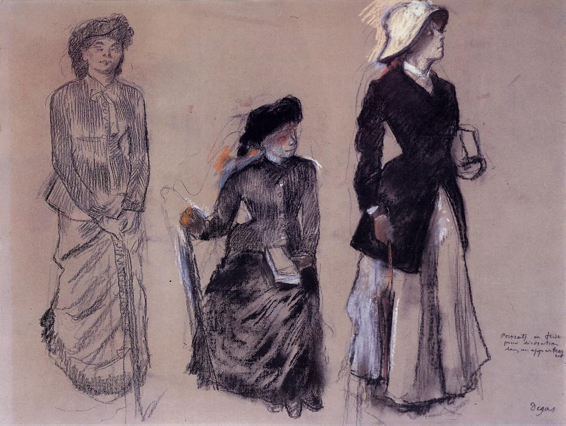 Project for Portraits in a Frieze. Three Women 1879