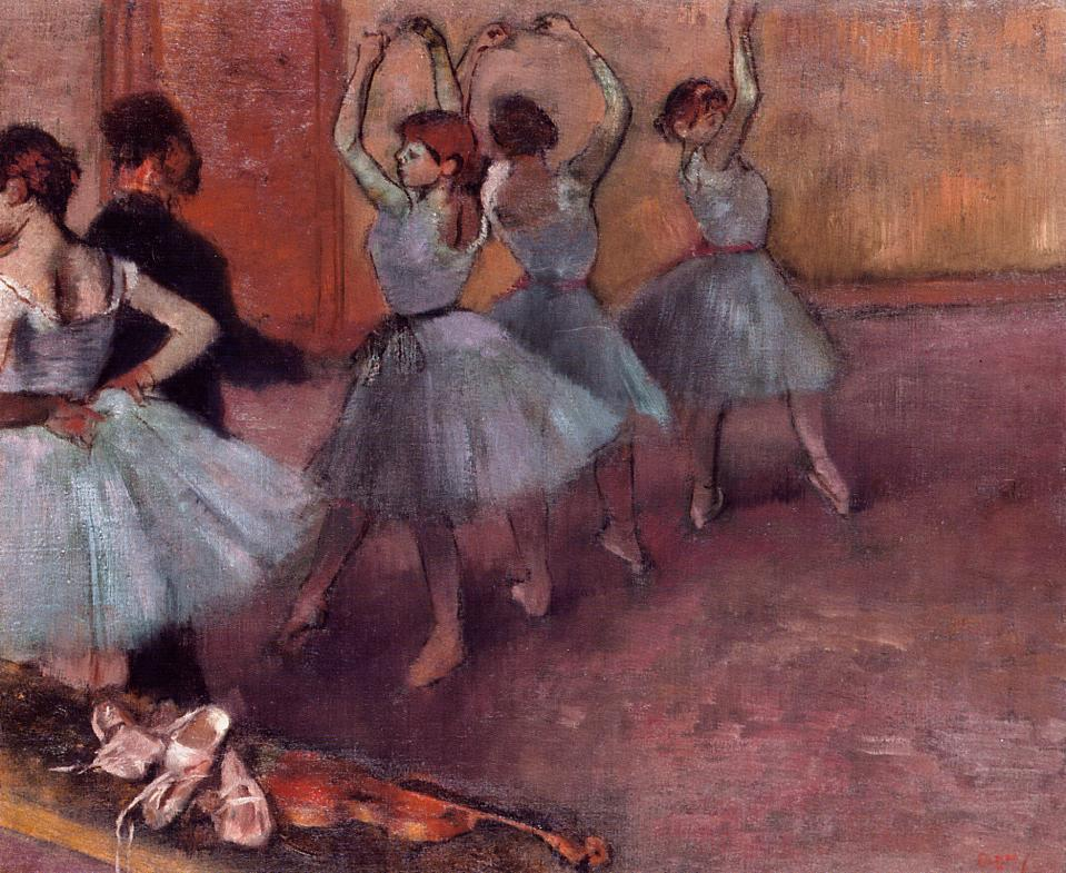 Dancers in Light Blue. Rehearsing in the Dance Studio 1881