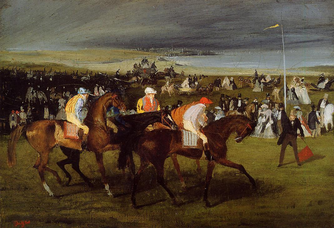 At the Races. the Start 1862