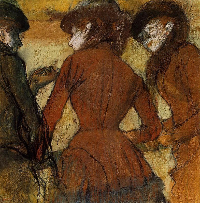 Three Women at the Races 1885