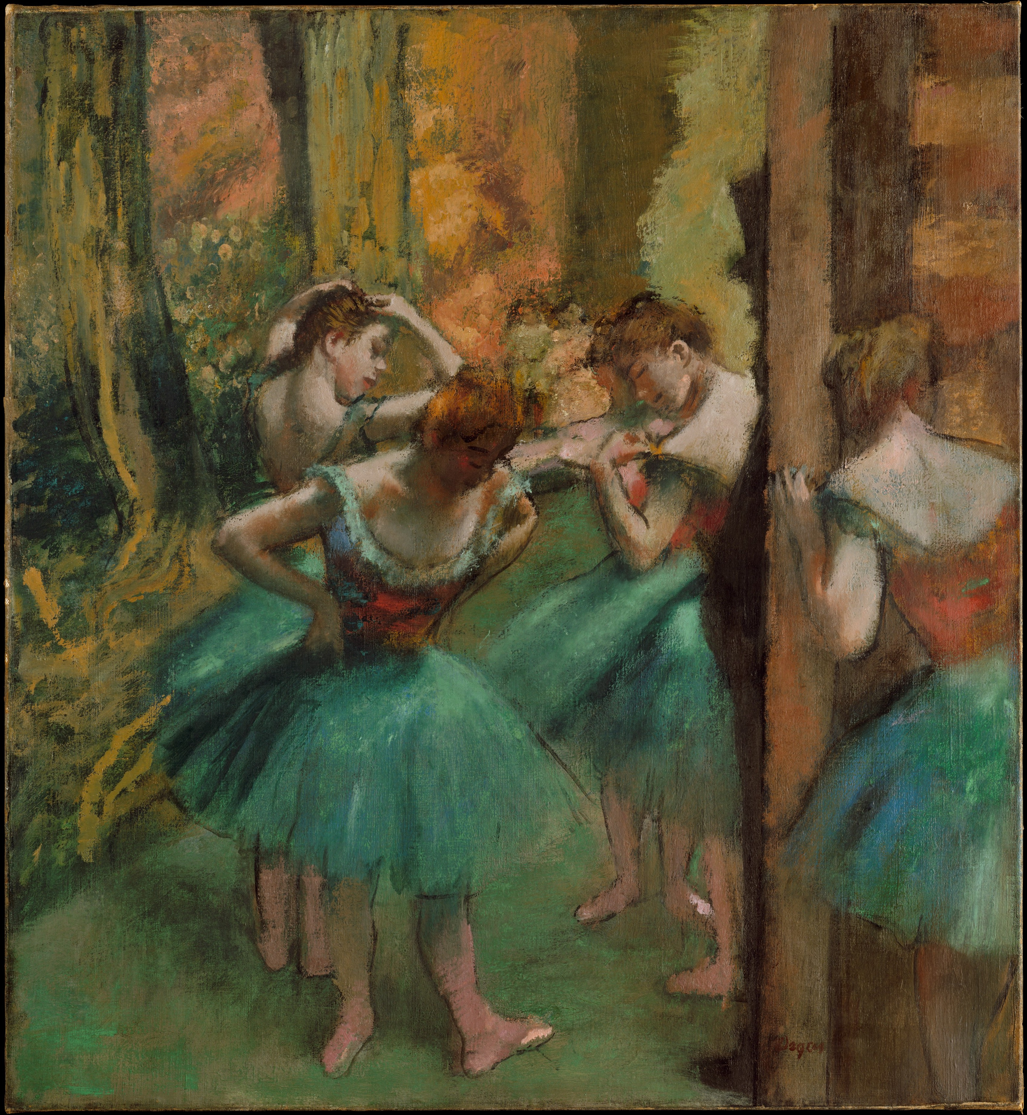 Dancers, Pink and Green 1890