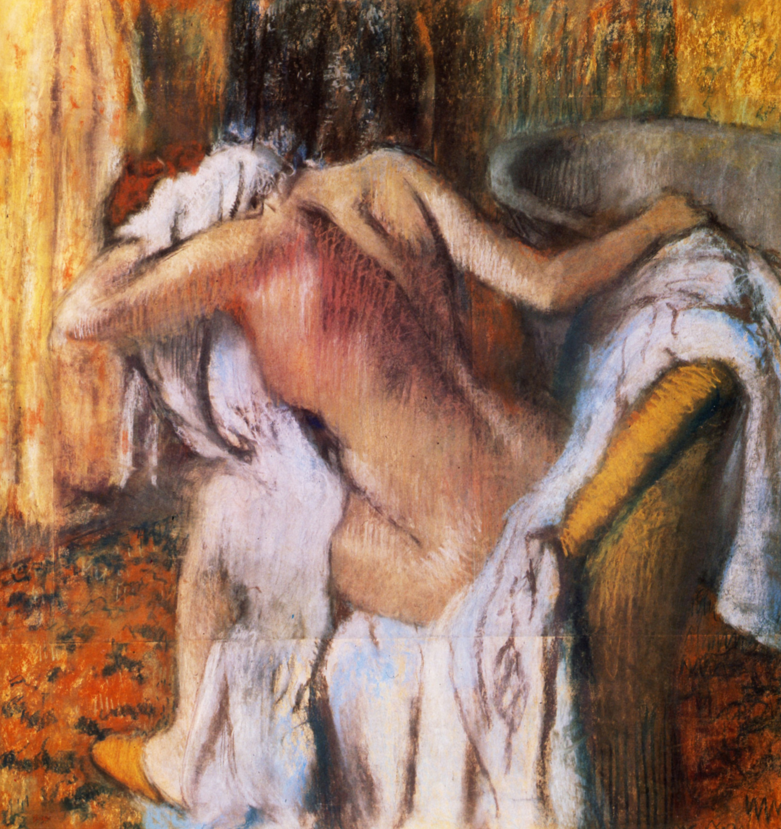 After the Bath, Woman Drying Herself 1892