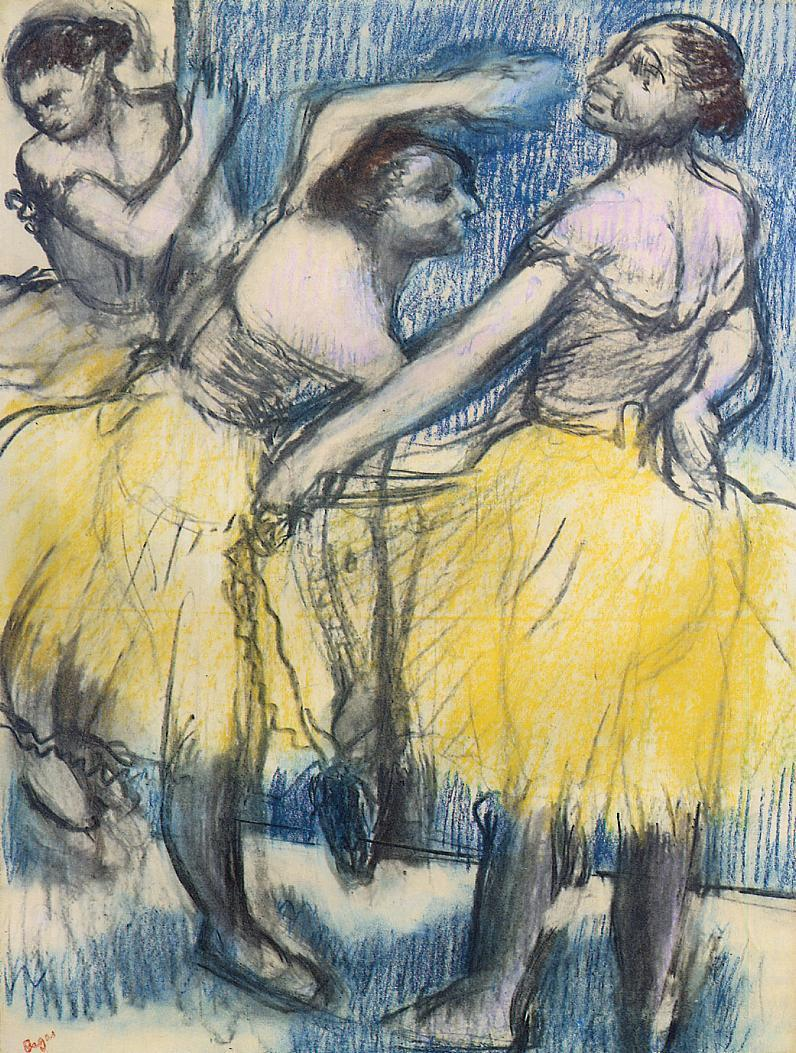 Three Dancers in Yellow Skirts 1904
