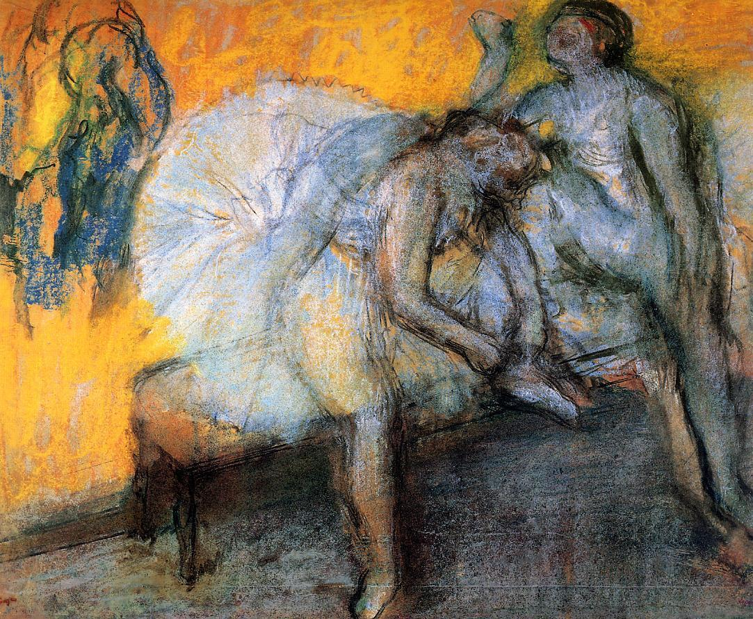 Two Dancers in Yellow and Pink 1910