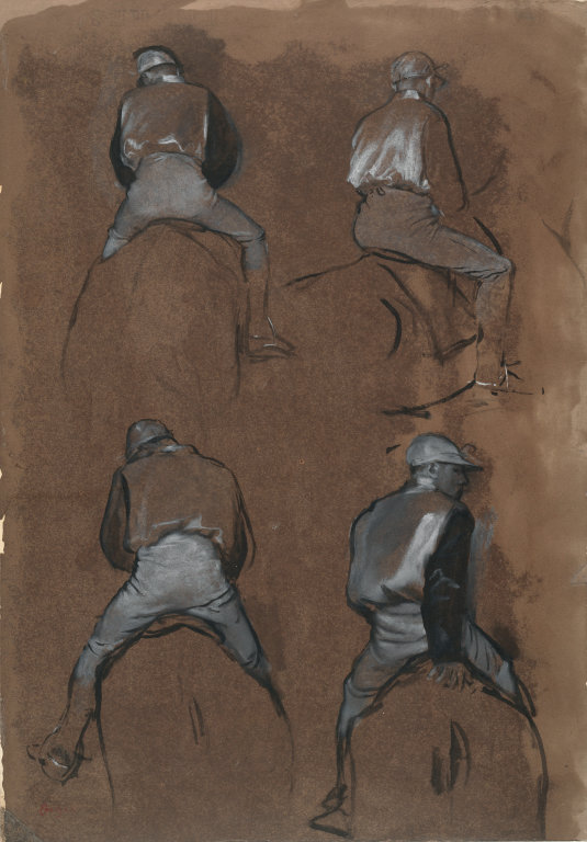 Four Studies of a Jockey 1866